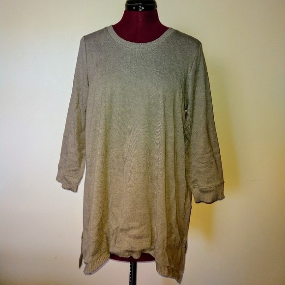 Style & Co Tops - Style & Co Size Medium Top Tunic Knit Sage Heather